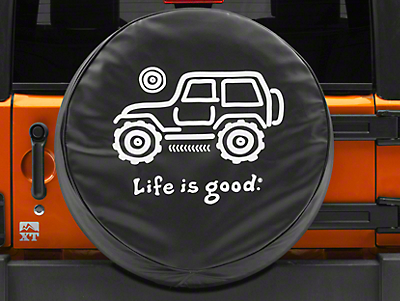 Life is Good Native Off-Road Spare Tire Cover (87-18 Jeep Wrangler YJ, TJ, JK & JL)