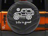 Life is Good Native Off-Road Spare Tire Cover (66-21 Jeep CJ5, CJ7, Wrangler YJ, TJ, JK & JL)