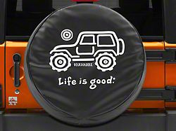 Life is Good Native Off-Road Spare Tire Cover - 32 in. Tire Cover (87-19 Jeep Wrangler YJ, TJ, JK & JL)