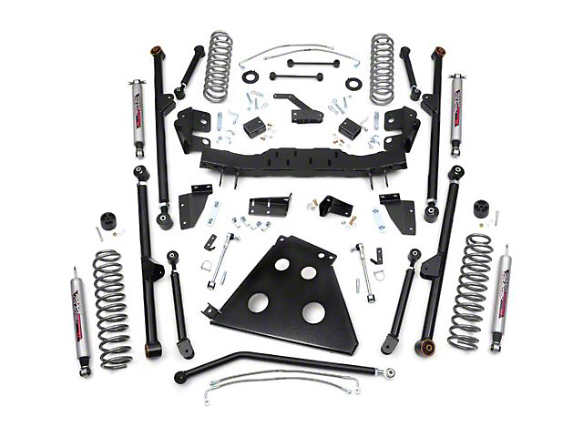 Rough Country 4 in. X-Series Long Arm Suspsension Lift Kit w/ Shocks (07-18 Jeep Wrangler JK 2 Door)