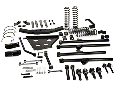 Rough Country 4 in. X-Series Long Arm Suspension Lift Kit w/ Shocks (07-11 Wrangler JK 4 Door)