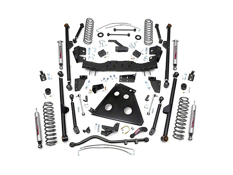Rough Country 6 in. X-Series Long Arm Suspension w/ Shocks (07-11 Wrangler JK 4 Door)