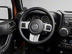 Rugged Ridge Steering Wheel Accent Trim; Brushed Silver (11-18 Jeep Wrangler JK)