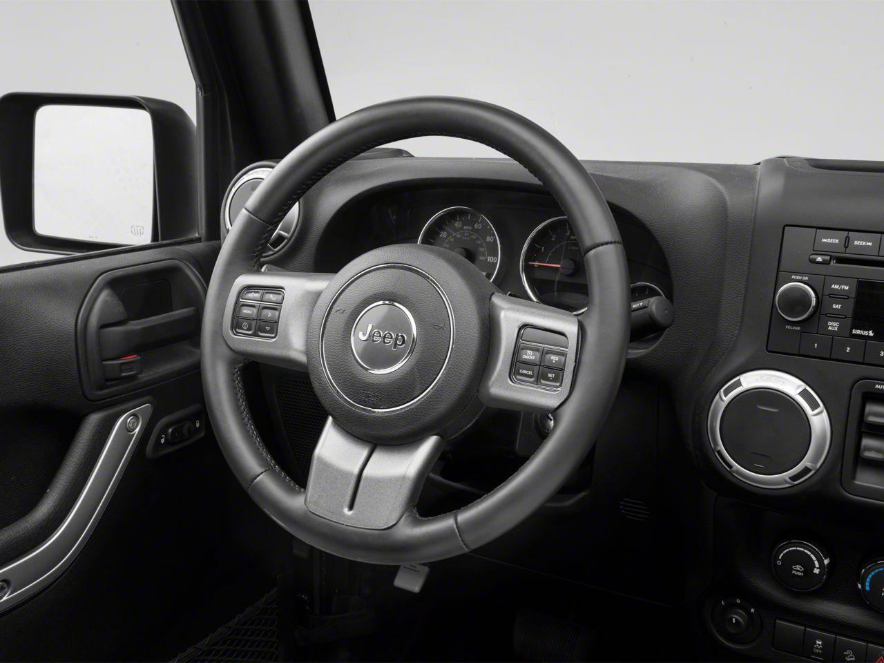 Rugged Ridge Steering Wheel Trim - Charcoal (11-18 Jeep Wrangler JK)