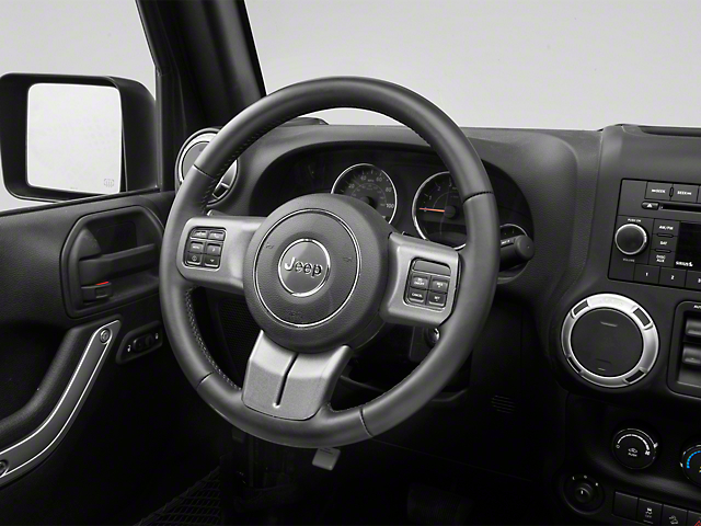 Rugged Ridge Steering Wheel Accent Trim; Charcoal (11-18 Jeep Wrangler JK)