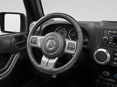 Rugged Ridge Steering Wheel Trim - Charcoal (11-18 Wrangler JK)