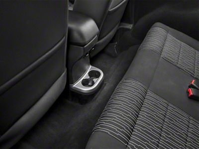 Rugged Ridge 2nd Row Center Cup Console Accent Trim - Charcoal (11-18 Jeep Wrangler JK)