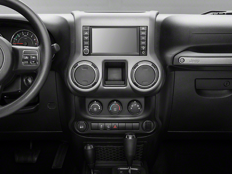 Rugged Ridge Center Radio Console Accent Trim - Charcoal (11-18 Wrangler JK)