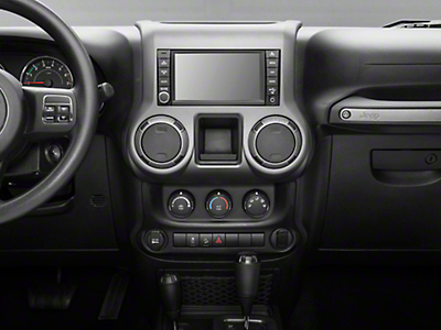 Rugged Ridge Center Radio Console Accent Trim - Charcoal (11-17 Wrangler JK)