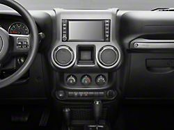 Rugged Ridge Center Radio Console Trim; Charcoal (11-18 Jeep Wrangler JK)