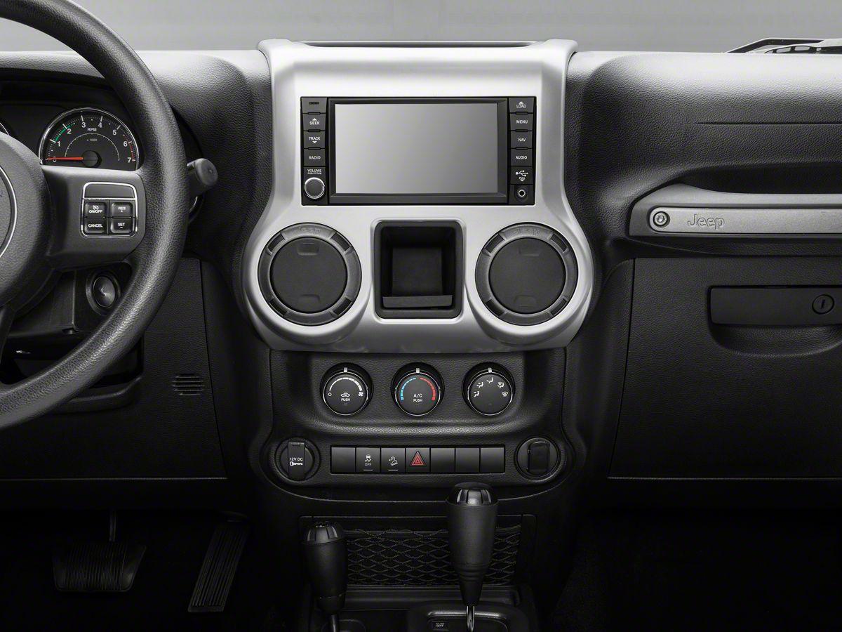 Rugged Ridge Center Radio Console Accent Trim - Brushed Silver (11-18 Jeep  Wrangler JK)