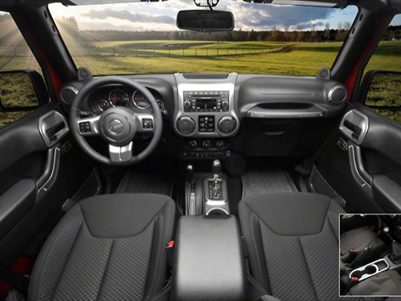 Rugged Ridge Interior Trim Accent Kit - Charcoal (11-18 Jeep Wrangler JK 4 Door w/ Manual Transmission)