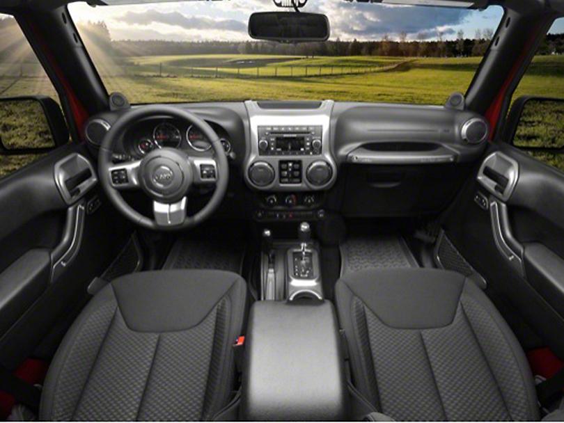 Rugged Ridge Interior Trim Accent Kit - Charcoal (11-18 Jeep Wrangler JK 4 Door w/ Automatic Transmission)