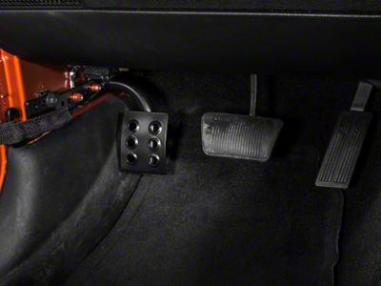 M.O.R.E. Dead Pedal - Driver Side (07-18 Jeep Wrangler JK w/ Automatic Transmission)