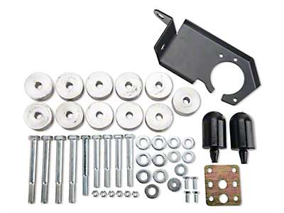 M.O.R.E. 1 in. Body Lift w/o Shocks (97-06 4.0L Wrangler TJ)