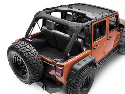 Rugged Ridge Front Eclipse Sun Shade - Black (07-18 Jeep Wrangler JK)