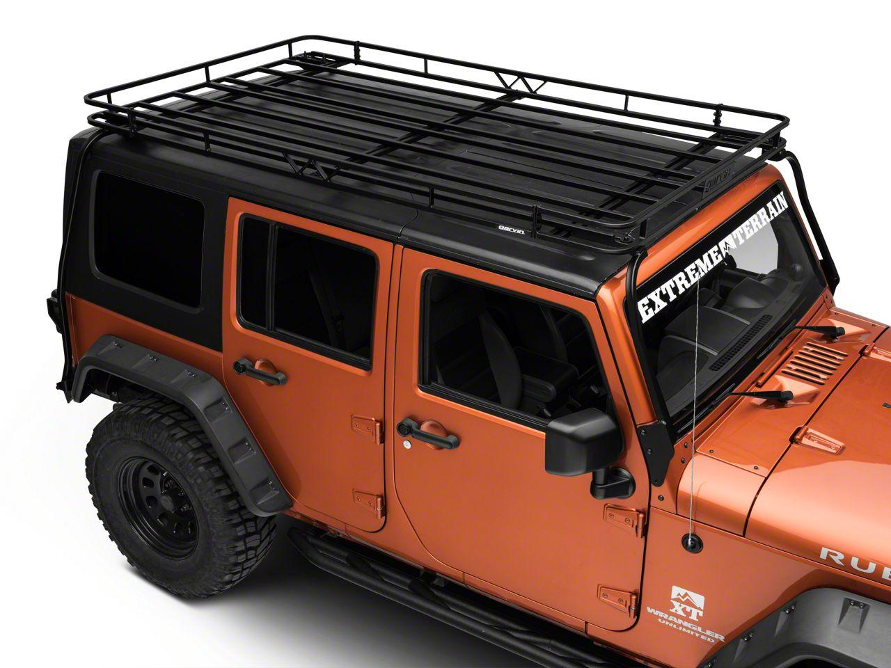 Garvin Jeep Wrangler Expedition Rack W Basket 44074 07 18 Jeep Wrangler Jk 4 Door