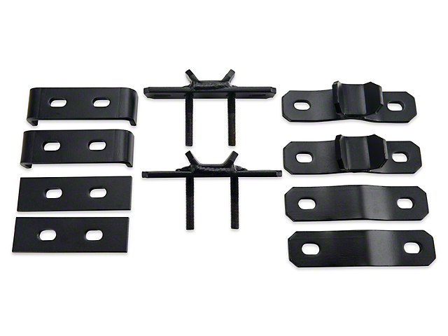 Garvin Combo Ax and Shovel Mount for 4-Inch High Roof Rack (07-18 Jeep Wrangler JK)