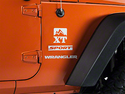 XT Graphics Side Decal - Silver (87-18 Wrangler YJ, TJ, JK & JL)