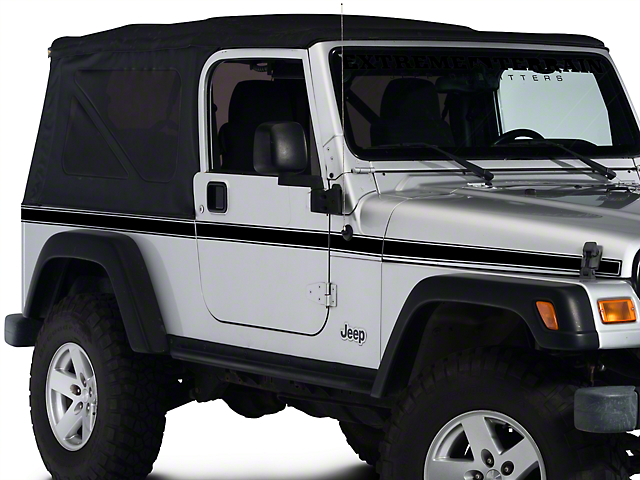 Side Stripe - Black (97-06 Jeep Wrangler TJ)