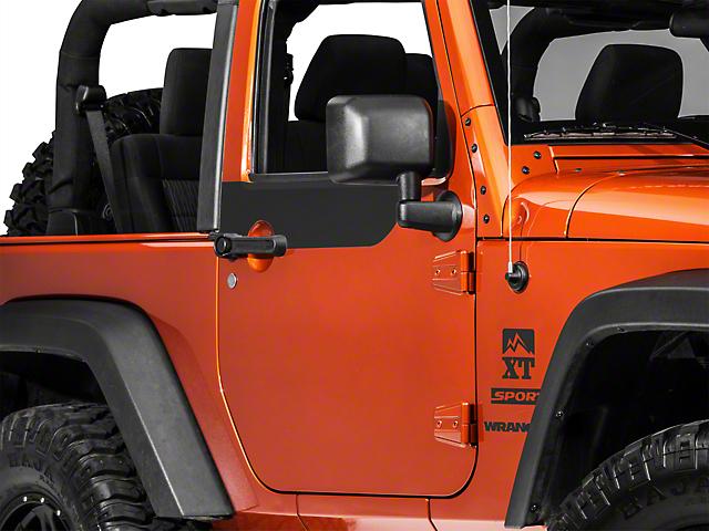 SEC10 Door Accents; Matte Black (07-18 Jeep Wrangler JK 2 Door)
