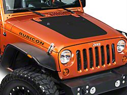 SEC10 Hood Decal; Matte Black (07-18 Jeep Wrangler JK)