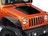 SEC10 Hood Decal; Black (07-18 Jeep Wrangler JK)