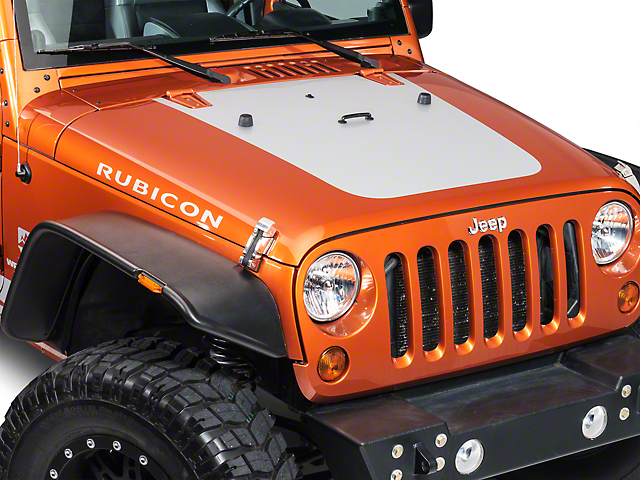 Hood Decal - Silver (07-18 Jeep Wrangler JK)