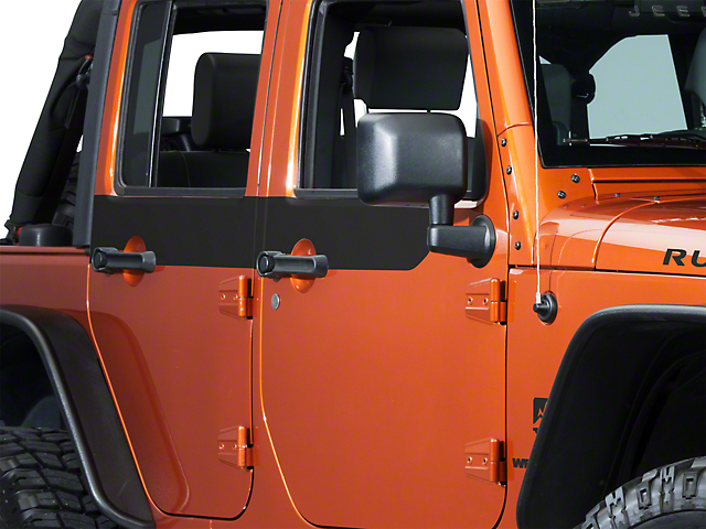 XT Graphics Door Accents - Matte Black (07-18 Wrangler JK 4 Door) & XT Graphics Wrangler Door Accents - Matte Black J26018 (07-18 ...