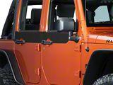 SEC10 Door Accents; Matte Black (07-18 Jeep Wrangler JK 4 Door)