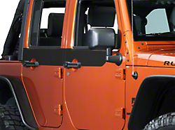 SEC10 Door Accents; Matte Black (07-18 Jeep Wrangler JK 4 Door)