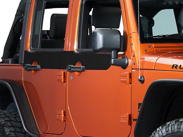 SEC10 Door Accents; Black (07-18 Jeep Wrangler JK 4 Door)