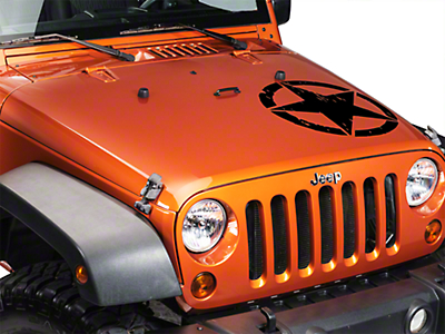 XT Graphics On The Move Star Kit - Black (87-18 Jeep Wrangler YJ, TJ, JK & JL)