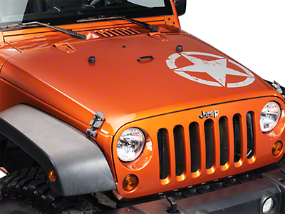 XT Graphics On The Move Star Kit - Silver (87-18 Jeep Wrangler YJ, TJ, JK & JL)