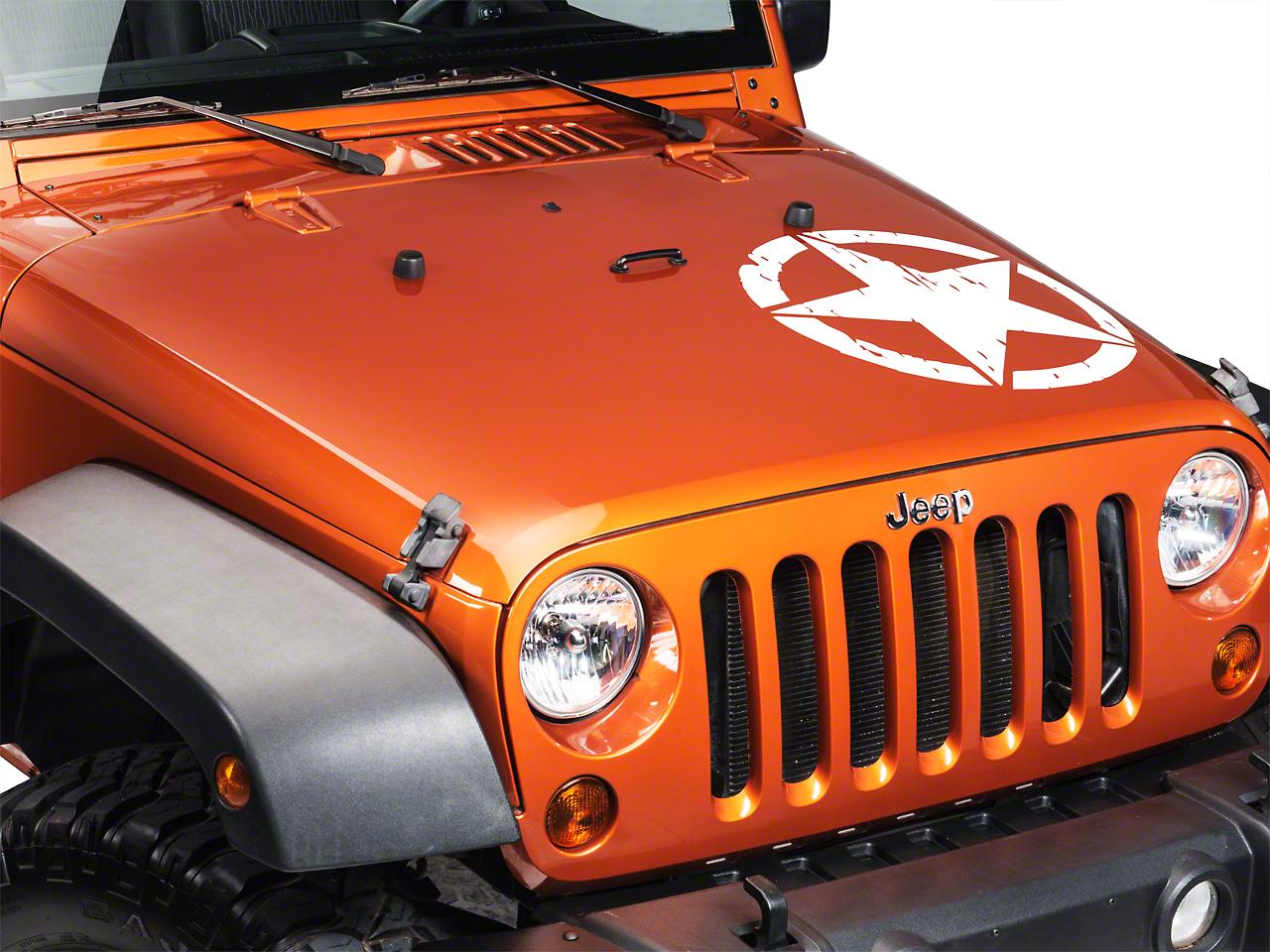 XT Graphics On The Move Star Kit - White (87-18 Jeep Wrangler YJ, TJ, JK & JL)