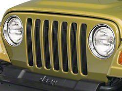 RedRock 4x4 Billet Grille Inserts - Black (97-06 Jeep Wrangler TJ)