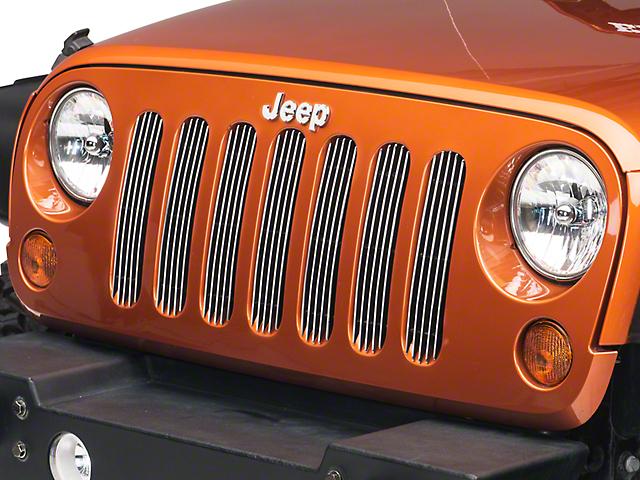 RedRock 4x4 Billet Grille Inserts - Polished (07-18 Jeep Wrangler JK)