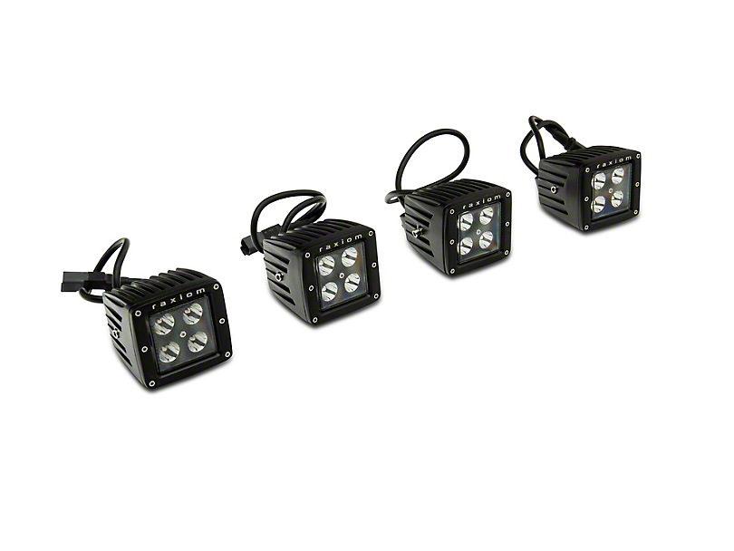 Raxiom Dual Pillar LED Off Road Light Kit with Mounting Brackets (18-20 Jeep Wrangler JL)