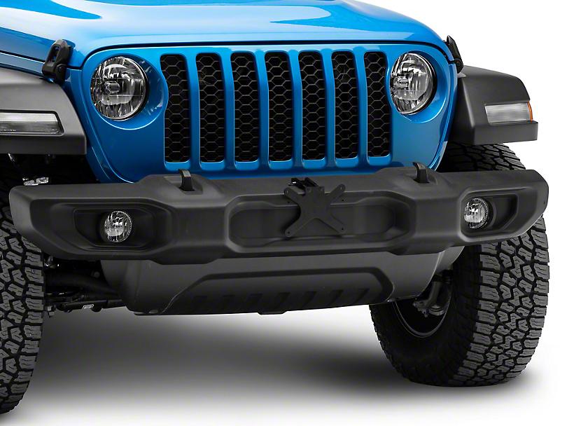 Detachable Front License Plate Bracket for Plastic Bumpers (18-20 Jeep Wrangler JL)
