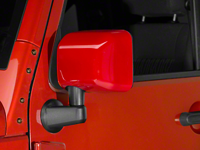 RedRock 4x4 Mirror Covers - Pre-Painted (07-18 Wrangler JK)