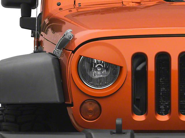 MMD Angry Eyes Headlight Conversion; Unpainted (07-18 Jeep Wrangler JK)