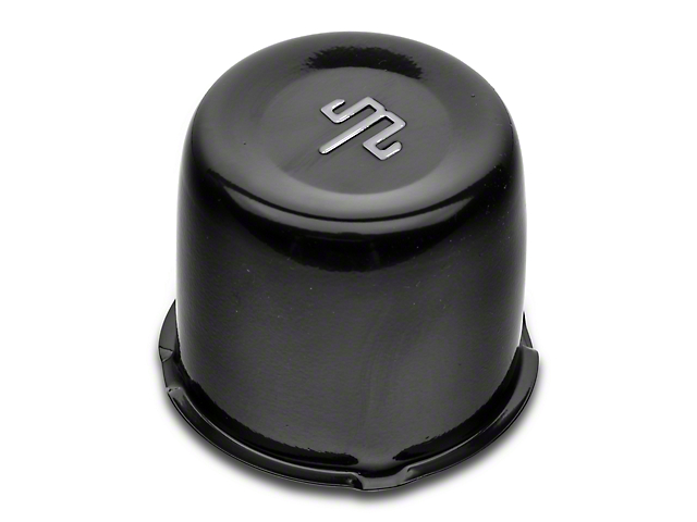 Mammoth Black Center Cap for Steel Wheels (87-18 Wrangler YJ, TJ, JK & JL)