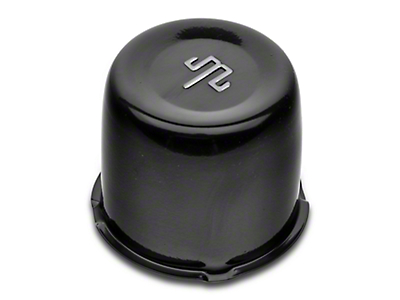 Mammoth Black Center Cap for Steel Wheels (87-18 Wrangler YJ, TJ & JK)