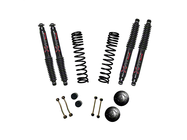 SkyJacker 2.50-Inch Dual Rate Long Travel Suspension Lift Kit with 1-Inch Rear Coil Spacers and Black MAX Shocks (2020 Jeep Gladiator JT, Excluding Launch Edition & Rubicon)