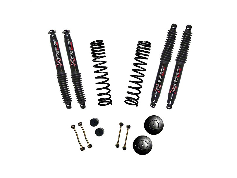 SkyJacker 2.50-Inch Dual Rate Long Travel Suspension Lift Kit with 1-Inch Rear Coil Spacers and Black MAX Shocks (2020 Jeep Gladiator JT Launch Edition, Rubicon)