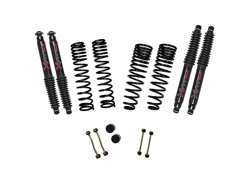 SkyJacker 2.50-Inch Dual Rate Long Travel Suspension Lift Kit with 1-Inch Rear Coil Springs and Black MAX Shocks (2020 Jeep Gladiator JT Launch Edition, Rubicon)
