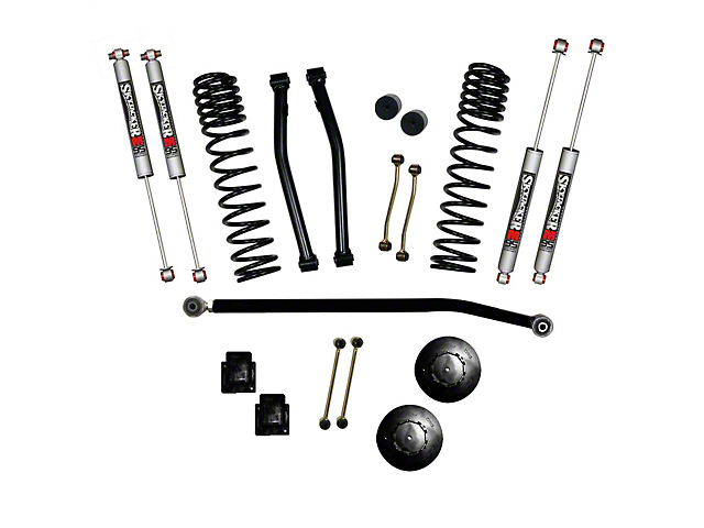 SkyJacker 3.50-Inch Dual Rate Long Travel Suspension Lift Kit with 2-Inch Rear Coil Spacers and M95 Performance Shocks (2020 Jeep Gladiator JT Launch Edition, Rubicon)