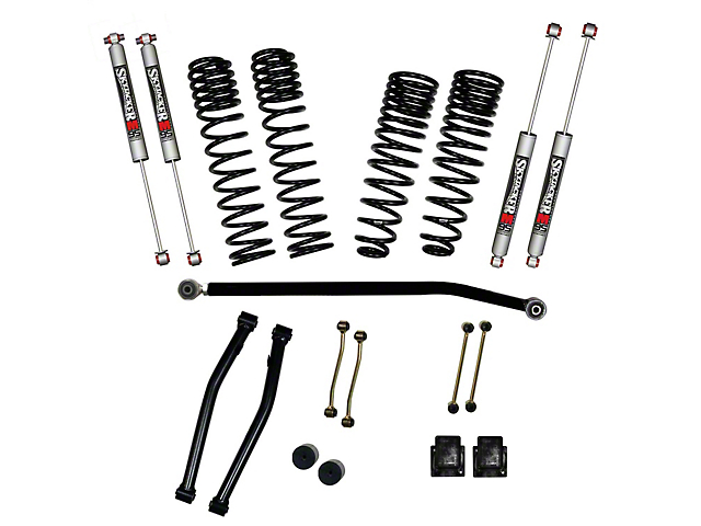 SkyJacker 3.50-Inch Dual Rate Long Travel Suspension Lift Kit with 2-Inch Rear Coil Springs and M95 Performance Shocks (20-21 Jeep Gladiator JT Launch Edition, Rubicon)