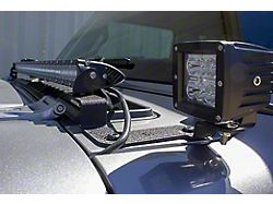 Fishbone Offroad 40 to 42-Inch LED Light Bar Cowl Light Mounting Brackets (20-22 Jeep Gladiator JT)