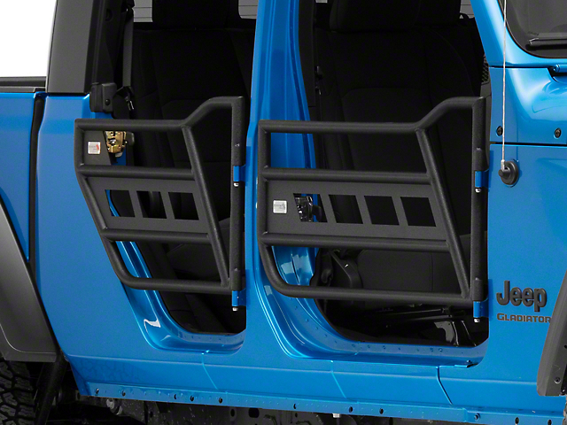 Fishbone Offroad Front and Rear Tube Doors; Textured Black (18-21 Jeep Wrangler JL 4 Door)